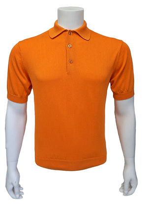 "Tulliano Silk Summer Polo Shirt ""Orange"""