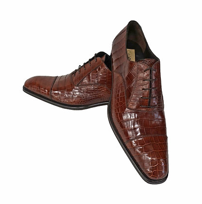 Caporicci (Gold) Cap Toe, Baby Alligator, Italian Shoe