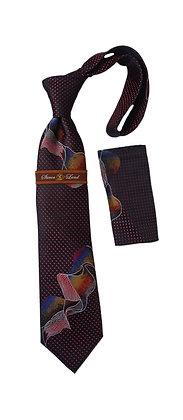 Steven Land Silk Motion Tie and Hanky Set