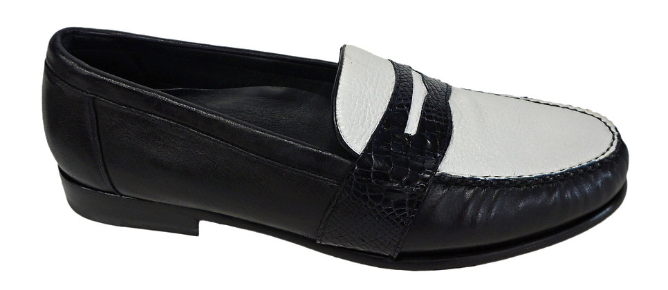 "Belvedere (Emanuel) ""Navy Blue/White"" Loafer"