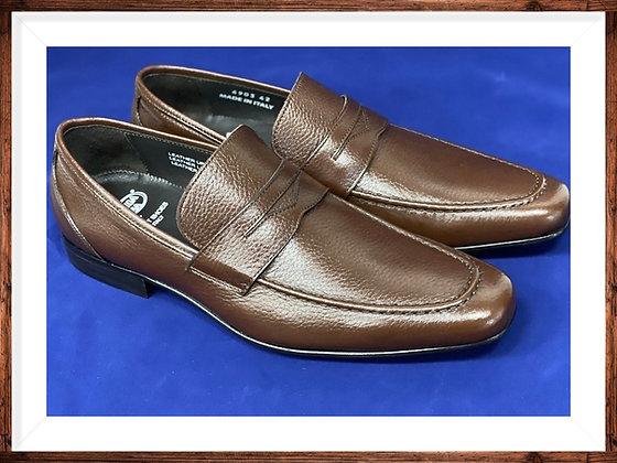 "Mens Brick Deer skin Hand Made Italian Loafers by Calzoleria Toscana ""6903"""