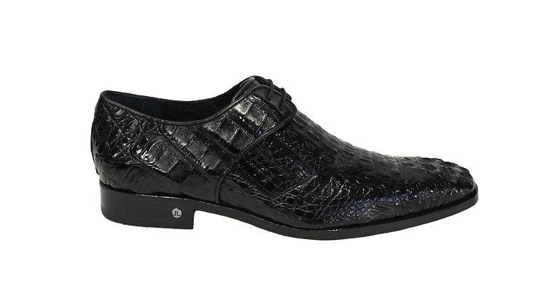 Lombardy Men's Black Caiman Hornback Shoe