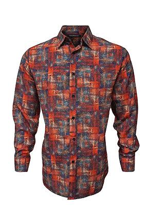 Bassiri Men's  Rust Casual Shirt