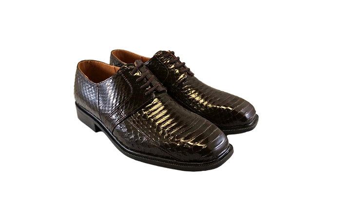 "Mens Brown Snakeskin Oxford Shoe by Giorgio Brutini ""Slaton"""