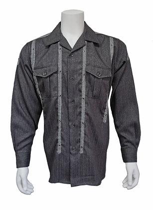 "J.Klass ""Charcoal"" wool shirt Medium"
