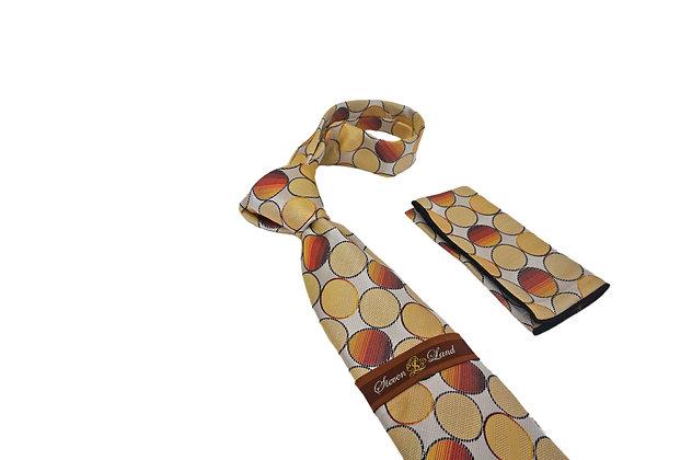 Steven Land (Yellow) Tie and Hanky Set