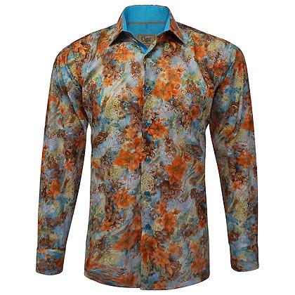 "Cigar Couture Button Down Shirt ""Orange"""