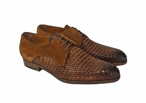 Jose Real (Velour Wisky) Suede trim Basket Weave Shoe