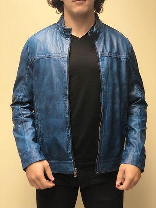 Missani Le Collezioni Indigo Lambskin Leather Jacket - Main