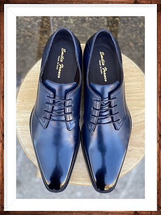 "Blue Men's Italian Oxford Shoes by Emilio Franco ""B18215"""