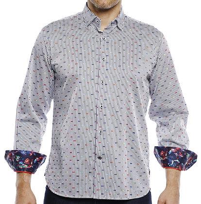 Luchiano Visconti Multi mens button down shirt, contrast trimming