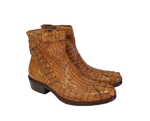 Calzoleria Toscana (Brick) Crocodile side Zip Boot