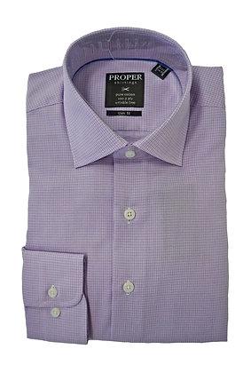 Proper Shirtings Lilac Dress Shirt, Plain cuff