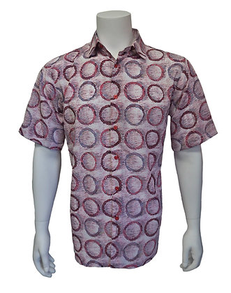 "Bassiri Short Sleeve Summer Shirt ""French Rose"""