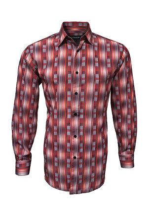 """Bassiri """"Red"""" Casual Long Sleeve Lightweight Shirt"""