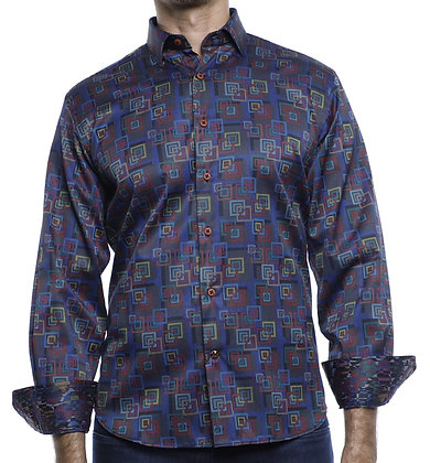 Luchiano Visconti (4186 - Multi) Mens Button down shirt