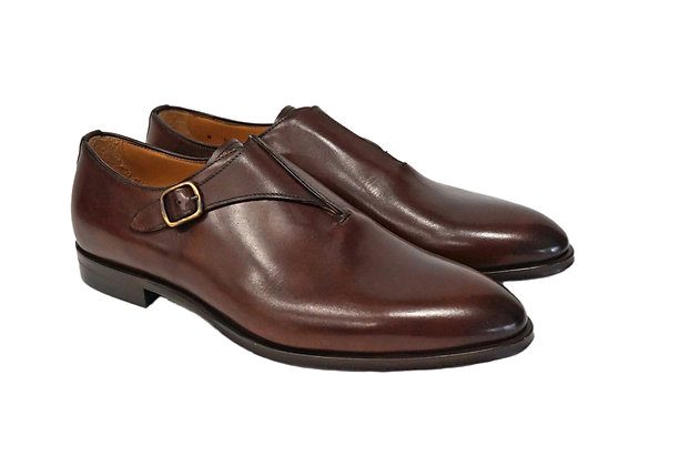 Jose Real (Brown) Side Buckle Italian Shoe
