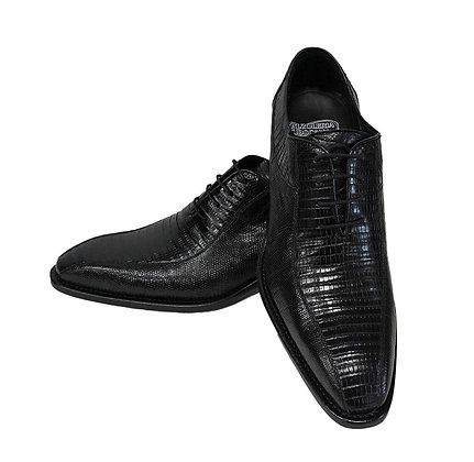 Calzoleria Toscana (Black) Genuine Tejus Lizard, Italian Shoe