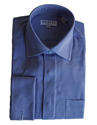 Modena Blue French Cuff Classic Fit Shirt