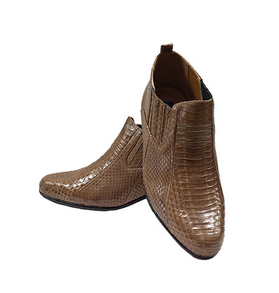 Men's Giorgio Brutini (Jarrett -  Taupe) Snakeskin ankle Boot