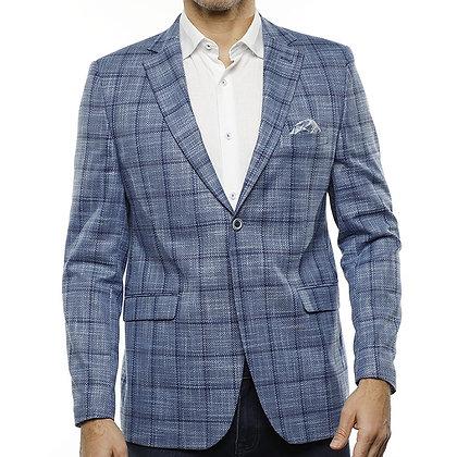 Luchiano Visconti Blue plaid blazer jacket