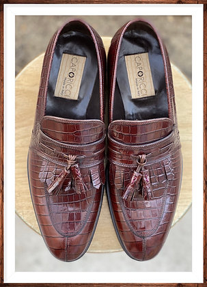 Italian Alligator Tassel Loafer by Caporicci