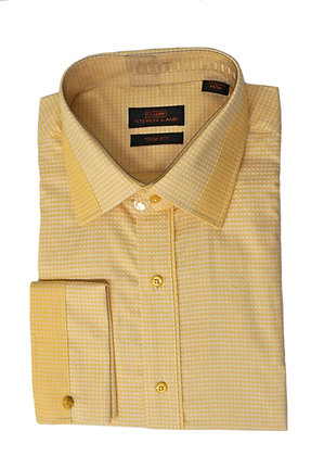 Steven Land (Gold) French Cuff Dress Shirt