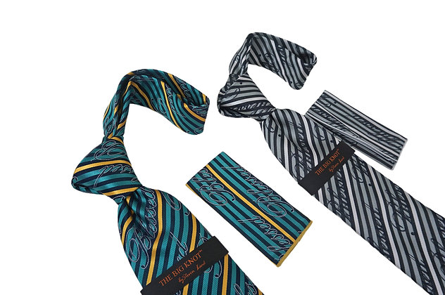Steven Land Blessed Silk Tie and Hanky Set