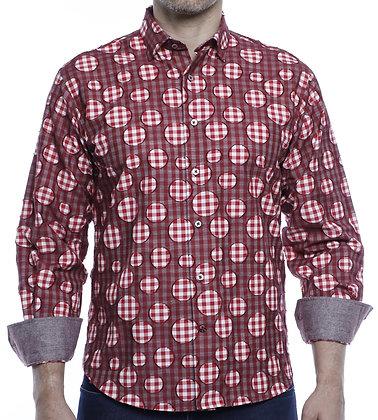 Luchiano Visconti Red button down shirt