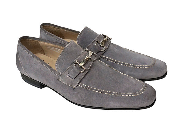 "Toscana (Trevento) ""Gray"" Bit loafer, Pick Stitch, Italian"