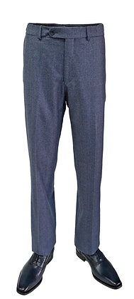 Ballin Blue Houndstooth Classic Fit Flat Front Dress Pants