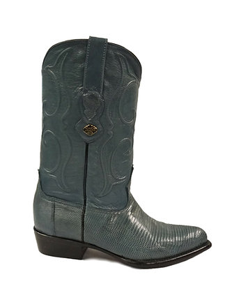 Los Altos Blue Jean Ring Lizard Cowboy Boot