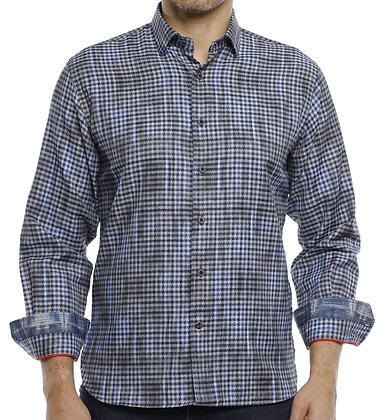 Luchiano Visconti (4197 - Blue) Mens Button down shirt