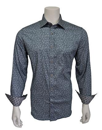 "Brandolini ""Grey"" Men's Shirt with contrast detailing"