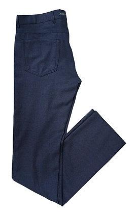 Ballin Navy Blue Comfort-EZE Saxony Textured wool Jeans style dress pant/slacks
