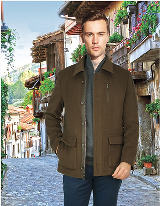 Men's Enzo Brown wool jacket