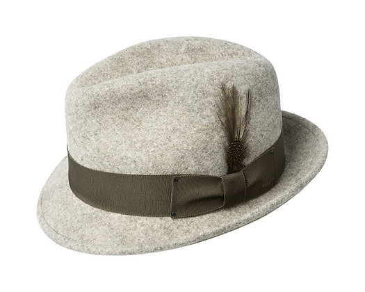 "Bailey ""Tino"" natural mix fedora litefelt hat - Angle"