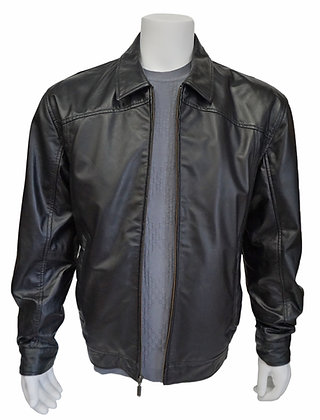 Missani Black Leather Bomber