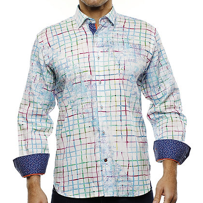 Luchiano Visconti Designer shirt with contrast inner cuff