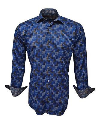 Luchian Visconti (Blue) Button Down Shirt