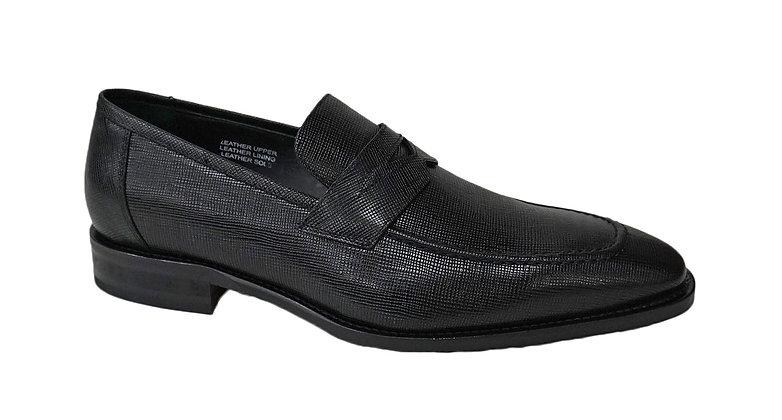 Calzoleria Toscana (David) Black Italian textured loafer
