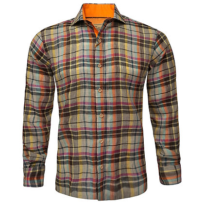 """Cigar Couture """"Tan"""" Linen Sports Shirt"""