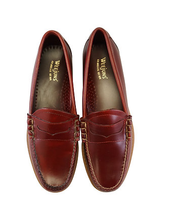 G.H. Bass & Co. Weejuns Red Penny Loafer mens shoe - Front view
