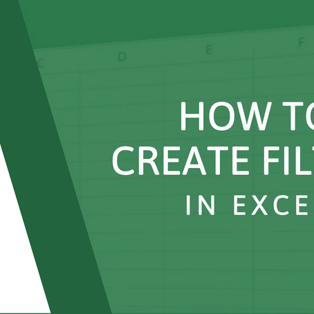 How to Create Filters in Excel