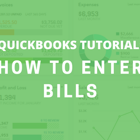 QBO Tutorial: How to Enter Bills