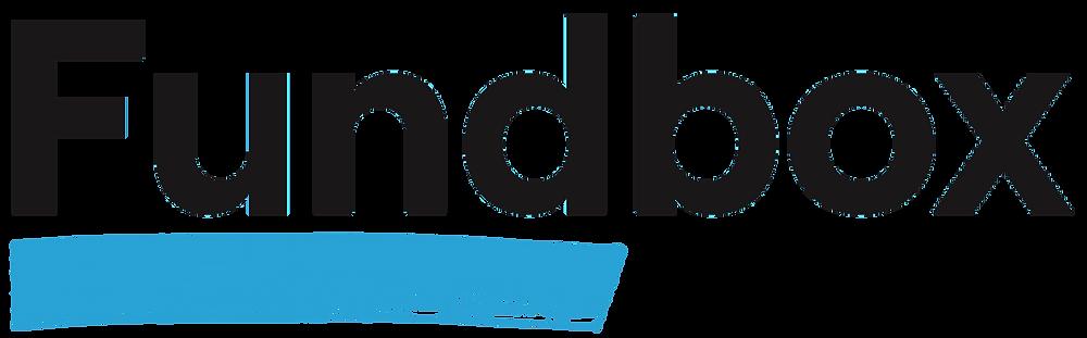 fundbox logo in black with blue underline