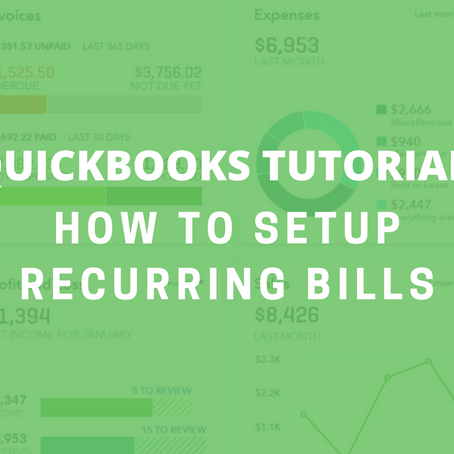 QBO Tutorial: How to Setup Recurring Bills