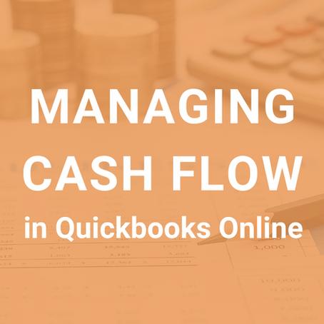 Managing Cash Flow in Quickbooks Online