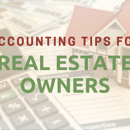 Accounting Tip for Real Estate Owners