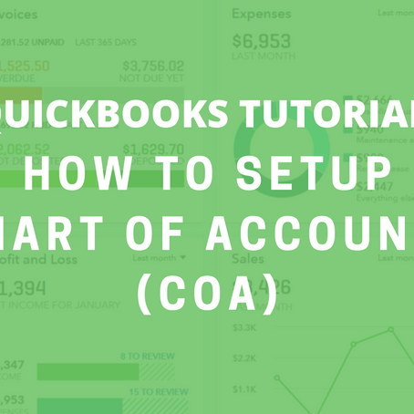 QBO Tutorial: How to Setup Chart of Accounts